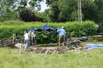 Formation Murs en pierres sèchesJardin du céré à Tavigny01-05/07/2013